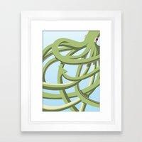Octopus green Framed Art Print