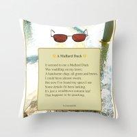 A Mallard Duck Poster Throw Pillow