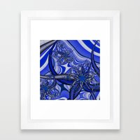 Splash of Blue Framed Art Print