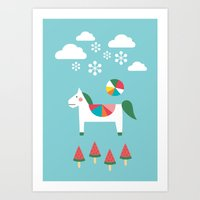 The Snowy Day Art Print