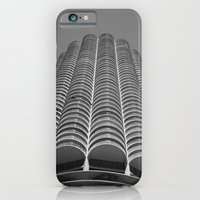 iPhone & iPod Case featuring Marina City Tower Photo, Chicago, Architecture by ginaphoto