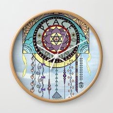 Peace Kite Dangle Wall Clock