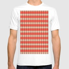 Red pattern rouge 6 SMALL Mens Fitted Tee White