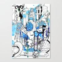Distant Parts Canvas Print