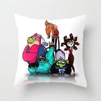 Bad Guys Throw Pillow