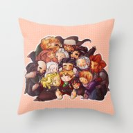 Hug The Hobbit Throw Pillow
