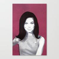 Mary Tyler Moore Paper A… Canvas Print