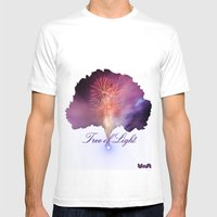 Tree Of Light Mens Fitted Tee White SMALL