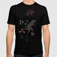 Black Dog Dancing In A G… Mens Fitted Tee Black SMALL