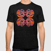 Multicoloured Flamingos Mens Fitted Tee Tri-Black SMALL