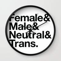 All Equal Genders Wall Clock