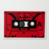 Thriller The Tape Canvas Print