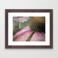 Life Is A Song Framed Art Print