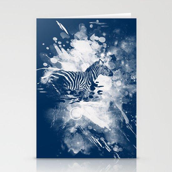 zebra splashed  Stationery Card