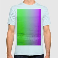 green + purple Mens Fitted Tee Light Blue SMALL