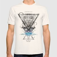 Nebula Mens Fitted Tee Natural SMALL