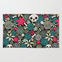 Skulls And Flowers. Rug