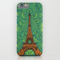 Eiffel Tower Drawing Meditation - orange/green/blue iPhone 6 Slim Case