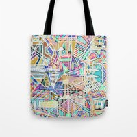 Geometric Abstract Lines Labirinth  Tote Bag