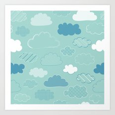 Patterned Clouds Art Print