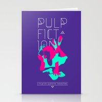 pulp fiction Stationery Cards featuring Pulp Fiction by RJ Artworks