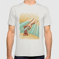 Le ciel Mens Fitted Tee Silver SMALL