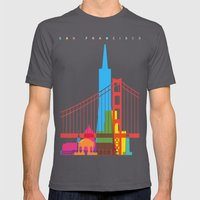 Shapes of San Francisco. Accurate to scale Mens Fitted Tee Asphalt SMALL