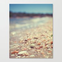 Pebbles Along The Shorel… Canvas Print