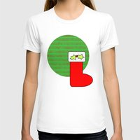 Christmas Stocking With … Womens Fitted Tee White SMALL