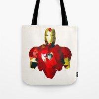 Polygon Heroes - Iron Ma… Tote Bag