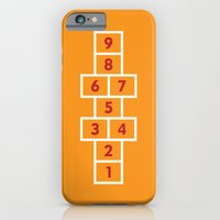 Hopscotch Orange iPhone 6 Slim Case