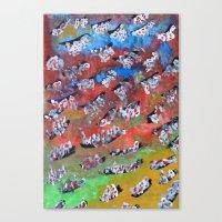 Rainbow Fall Canvas Print