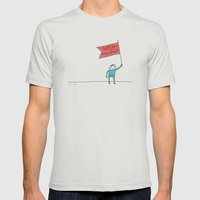 Let's Be Magnificent Mens Fitted Tee Silver SMALL
