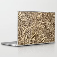tribal Laptop & iPad Skins featuring Tribal  by Terry Fan