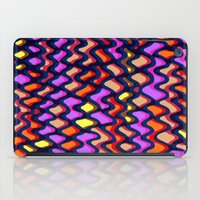 Painted and digital wibbly pattern iPad Case