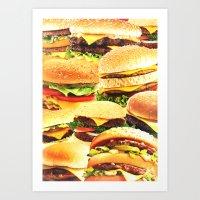 Fast Food Nation Art Print