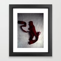 a history of i love you (red ribbon) Framed Art Print