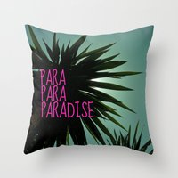 EXOTIC PARADISE Throw Pillow