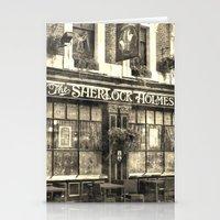 The Sherlock Holmes pub Vintage Stationery Cards