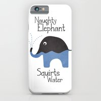 Naughty Elephant Squirts Water. iPhone 6 Slim Case