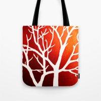 BLAZING TREES Tote Bag