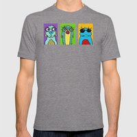 Guys With Glasses Mens Fitted Tee Tri-Grey SMALL