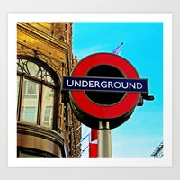 Underground at Harrods Art Print