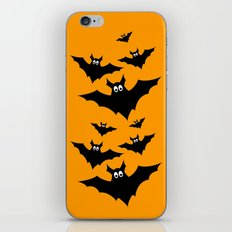 Cool cute Black Flying bats Halloween  iPhone & iPod Skin