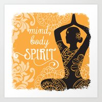 Mind, Body, Spirit Art Print
