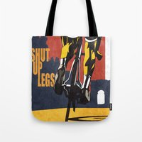 Retro Tour de France Cycling Illustration Poster: Shut Up Legs Tote Bag