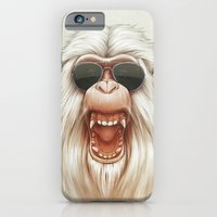 iPhone & iPod Case featuring The Great White Angry Monkey by Dr. Lukas Brezak