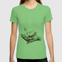 Lady In Red Womens Fitted Tee Grass SMALL