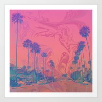 california Art Prints featuring California by Calepotts