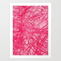 Ophelia Pink Art Print